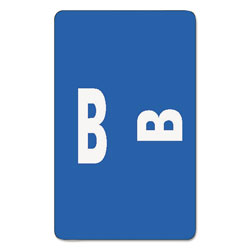 Smead Color Coded Labels, Second Letter, Dark Blue, Letter B, 100/Pack