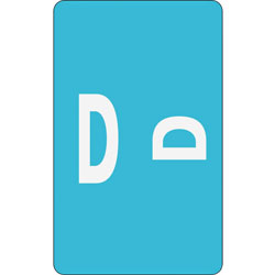 Smead Color Coded Labels, Second Letter, Light Blue, Letter D, 100/Pack