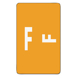 Smead Color Coded Labels, Second Letter, Orange, Letter F, 100/Pack