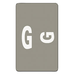 Smead Color Coded Labels, Second Letter, Gray, Letter G, 100/Pack