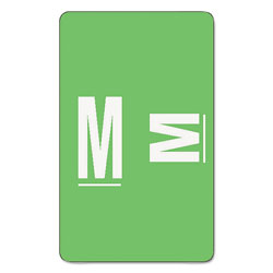 Smead Color Coded Labels, Second Letter, Light Green, Letter M, 100/Pack