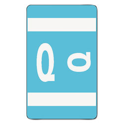 Smead Color Coded Labels, Second Letter, Light Blue, Letter Q, 100/Pack