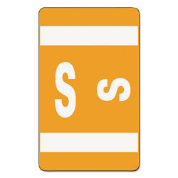 Smead Color Coded Labels, Second Letter, Orange, Letter S, 100/Pack