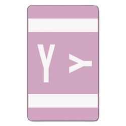 Smead Color Coded Labels, Second Letter, Lavender, Letter Y, 100/Pack