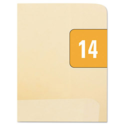 Smead Year 2014 End Tab Folder Labels, 1/2 x 1, Orange/White, 250 Labels per Pack