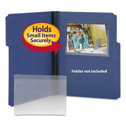 Smead Self Stick Vinyl Pockets for 4 x 6 Cards & Microfiche, 6 3/8 x 4 1/2, 100/Box