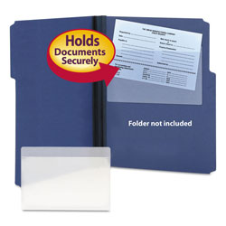 Smead Self Stick Vinyl Pockets for 5 x 8 Cards, 9 x 5 1/2, 100/Box