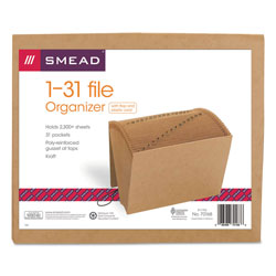 Smead Kraft Expanding File with Flap and Elastic Cord, 1 31 Index, 12 x 10