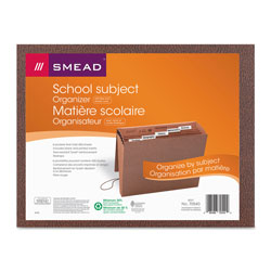 Smead Expanding File with Flap & Elastic Cord, 6 Pockets, Insertable Tabs, Letter, 12x10