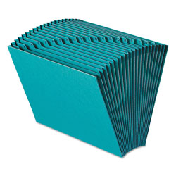 Smead Expanding File, Open Top, A Z Index, 12 x 10, Teal