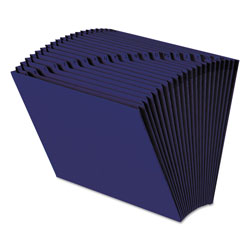 Smead Expanding File, Open Top, A Z Index, 12 x 10, Navy Blue