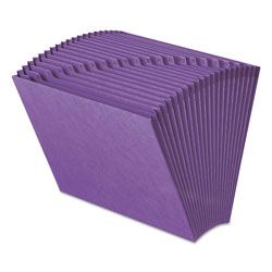 Smead Expanding File, Open Top, A Z Index, 12 x 10, Purple