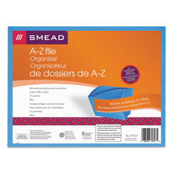 Smead Antimicrobial Expanding File Pocket, Letter, 21 pockets, A Z, Blue