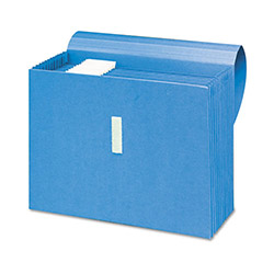 "Smead Antimicrobial Colored Expanding Files, 12"" x 10"", Blue"