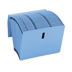 Smead Recycled WaterShed/CutLess Expanding File, Letter, Blue, 1/Each