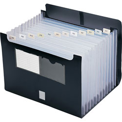 "Smead Expanding File With Flap, Letter Size, 13"" x 1 1/8"" x 9 1/2"" Black"