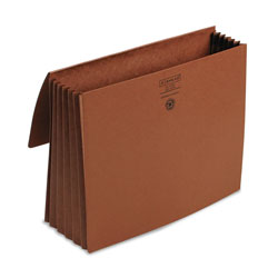"Smead Expanding Wallet, 11 3/4 x 9 1/2, 5 1/4"" Exp., Redrope with Cloth Ties"