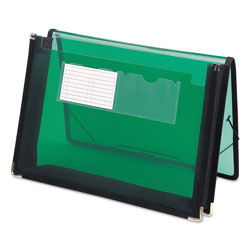 Smead Document Wallet with Elastic Ties, Letter Size, Green