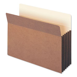 "Smead Redrope File Pockets, Tyvek Gusset, Letter, Straight Cut, 5 1/4"" Exp., 10/BX"
