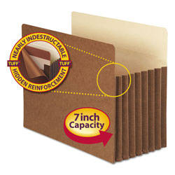 "Smead Pocket® Redrope File Pockets, Letter, Straight Cut, 7"" Exp., 5/Box"