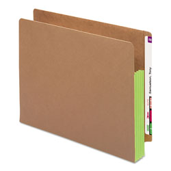 "Smead Redrope End Tab File Pockets, Green Tyvek Gussets, 3 1/2"" Expansion, 10/Box"