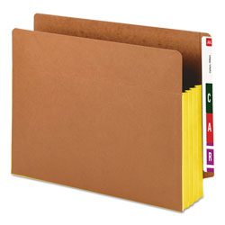 "Smead Redrope End Tab File Pockets, Yellow Tyvek Gussets, 3 1/2"" Expansion, 10/Box"