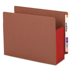 "Smead Redrope End Tab File Pockets, Red Tyvek Gussets, 5 1/4"" Expansion, 10/Box"