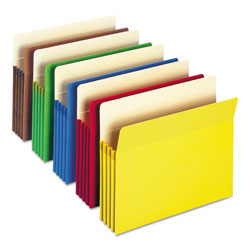 "Smead Colored File Pocket, Letter, Straight Cut, 3 1/2"" Expansion, Assorted"