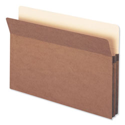 "Smead Redrope File Pockets, Paper Gusset, Legal, Straight Cut, 1 3/4"" Exp., 25/BX"