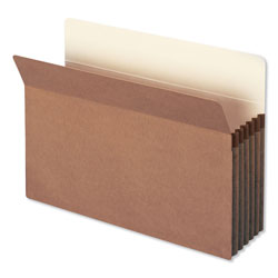 "Smead Redrope File Pockets, Paper Gusset, Legal, Straight Cut, 5 1/4"" Exp., 10/BX"