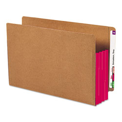 "Smead Redrope End Tab File Pockets, Red Tyvek Gussets, 3 1/2"" Expansion, 10/Box"