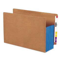 "Smead Redrope End Tab File Pockets, Blue Tyvek Gussets, 5 1/4"" Expansion, 10/Box"