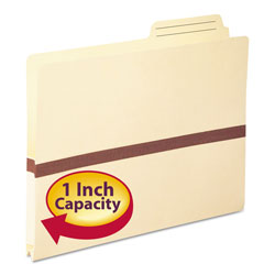 "Smead Economy Manila File Pocket with Index Tab, 2/5 Cut, Letter, 1"" Expansion"