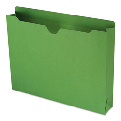 "Smead Colored Recycled File Jackets, 2 Ply Tab, 2"" Expansion, Letter, Green, 50/Box"
