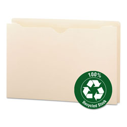 "Smead Recycled Top Tab File Jacket, Legal, 2"" Expansion, Manila"