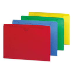 Smead Assorted Color Recycled File Jackets, Double Ply Tab, Flat, Letter, 100/Box