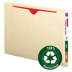 "Smead Recycled Expanding End Tab File Jacket, Letter, 2"" Expansion, Manila"