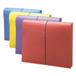 Smead 2in Expansion Antimicrobial File Wallet, Letter, Blue/Purple/Red/Yellow, 4/Pack