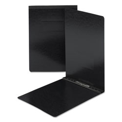 Smead Side Opening Pressboard Report Cover with Prong Fasteners, Black, Each