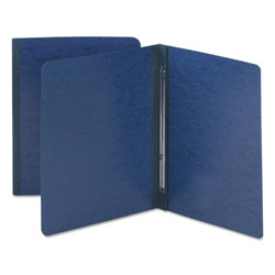 Smead Side Opening Pressboard Report Cover with Prong Fasteners, Blue, Each