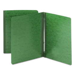 Smead Side Opening Pressboard Report Cover with Prong Fasteners, Green, Each