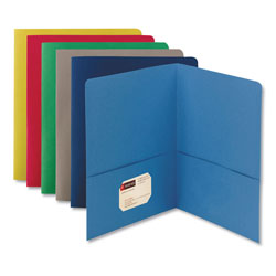 Smead Two Pocket Portfolio, Assorted Colors, Box of 25