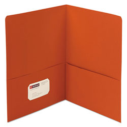 Smead Two Pocket Portfolio, Orange, Box of 25