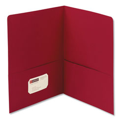 Smead Two Pocket Portfolio, Red, Box of 25