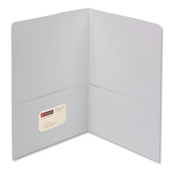 Smead Two Pocket Portfolio, White, Box of 25