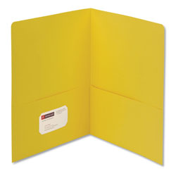 Smead Two Pocket Portfolio, Yellow, Box of 25