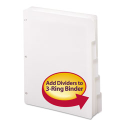Smead 1/5 Cut Index Tabs, White