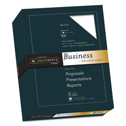 Southworth 20 lb. Fine White Business Paper, 8 1/2x11, 500/Box