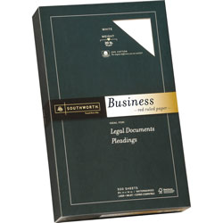 "Southworth Fine Business Paper, 20 lb., Legal Ruled, 8-1/2""x14"", 500/Box, WE"