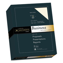 Southworth 24 lb. Natural Fine Business Paper, 8 1/2x11, 500/Box